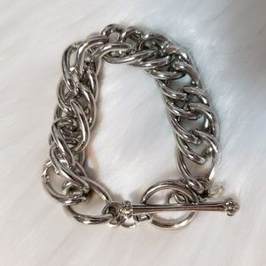 Juicy Couture thick link silver bracelet